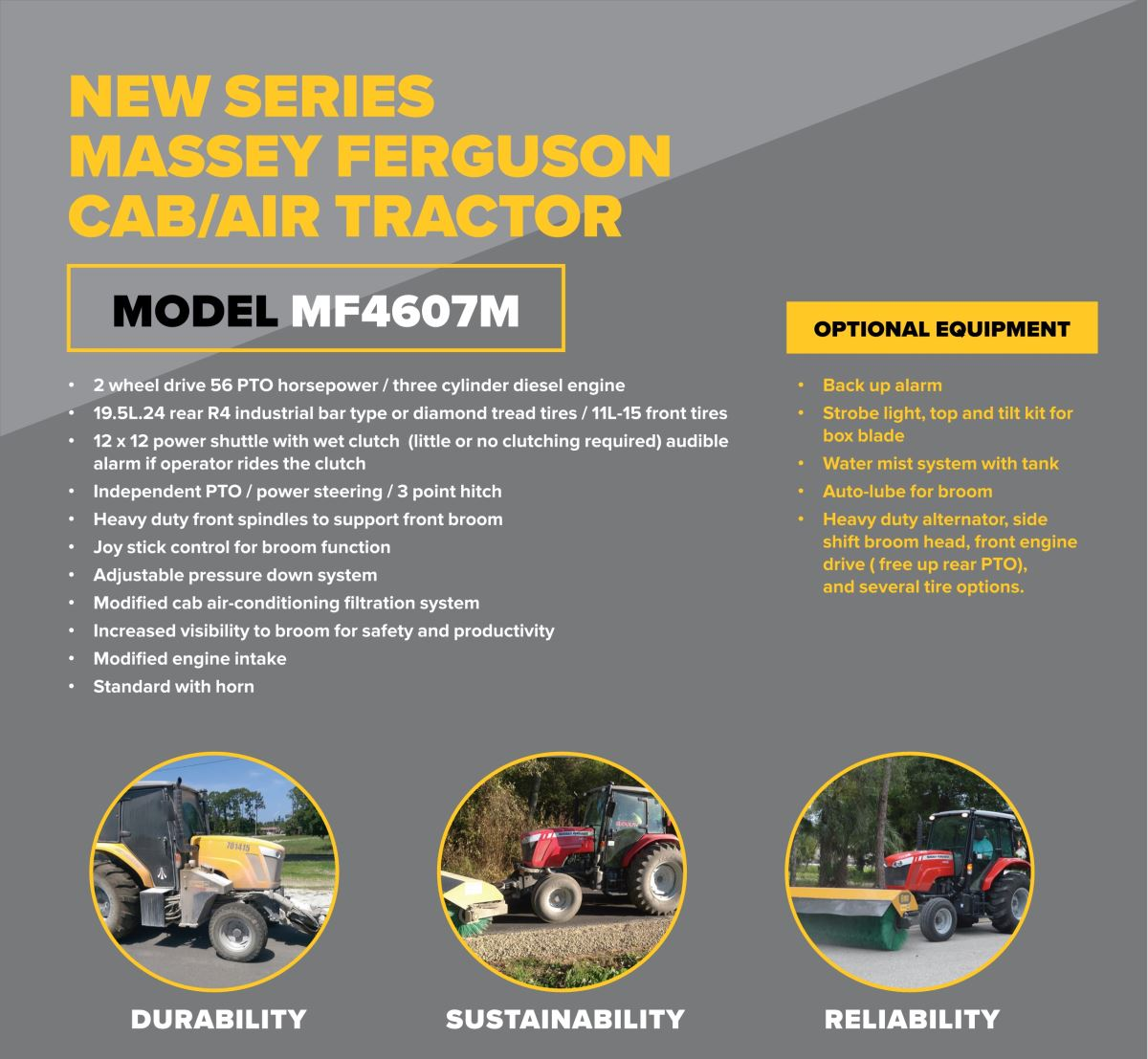 Massey Fergusson CAB AIR Tractor New Series