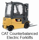 CAT Counterbanlanced Electric Forklifts