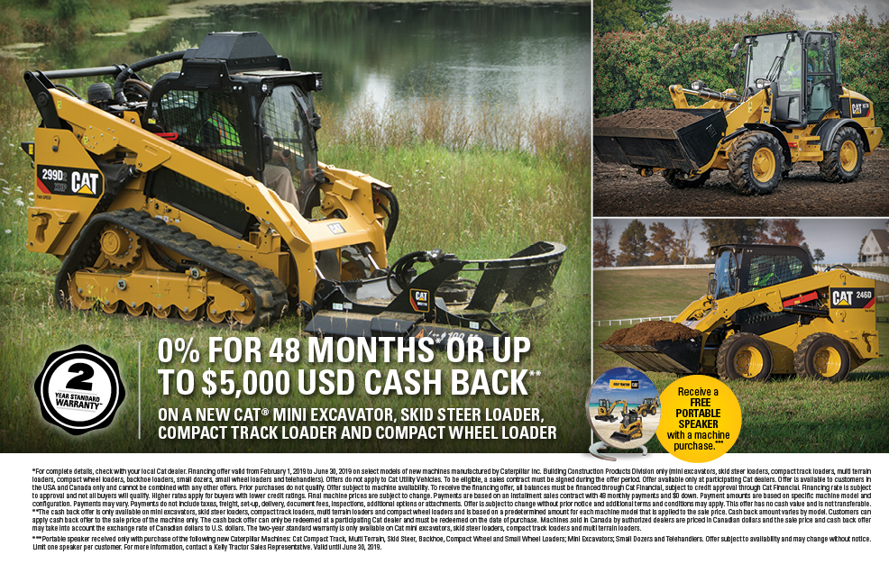 Affordable Caterpillar Promotion Main Content at Kelly Tractor Co.